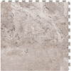 Perfection Floor Tile LVT 6-Piece 20-in x 20-in Silver Floating Travertine Luxury Vinyl Tile