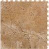 Perfection Floor Tile LVT 6-Piece 20-in x 20-in Sienna Floating Travertine Luxury Vinyl Tile