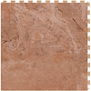 Perfection Floor Tile LVT 6-Piece 20-in x 20-in Rose Floating Travertine Luxury Vinyl Tile