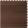 Perfection Floor Tile LVT 6-Piece 20-in x 20-in Walnut Wood Floating Wood Luxury Vinyl Tile