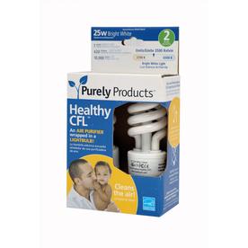 2-Pack Healthy CFL 7-Watt (25W) Spiral with Ionizer Medium Base Bright White CFL Bulbs ENERGY STAR