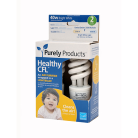 2-Pack Healthy CFL 15-Watt (60W) Spiral with Ionizer Medium Base Daylight CFL Bulbs ENERGY STAR