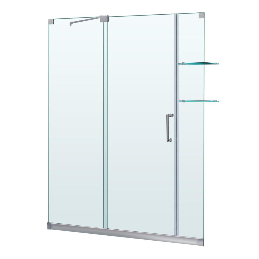 Lowes shower doors sliding shop dreamline mirage 56 in for Lowes sliding glass doors