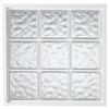 Hy-Lite Design Vinyl New Construction Acrylic Block Window (Rough Opening: 42.5-in x 42.5-in; Actual: 42-in x 42-in)