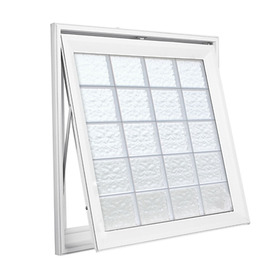 "Hy-Lite 45-1/2"" x 45-1/2"" Design Series Single Vinyl Double Pane Awning Window"