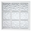 Hy-Lite Vinyl New Construction Glass Block Window (Rough Opening: 32-in x 32-in; Actual: 31.5-in x 31.5-in)