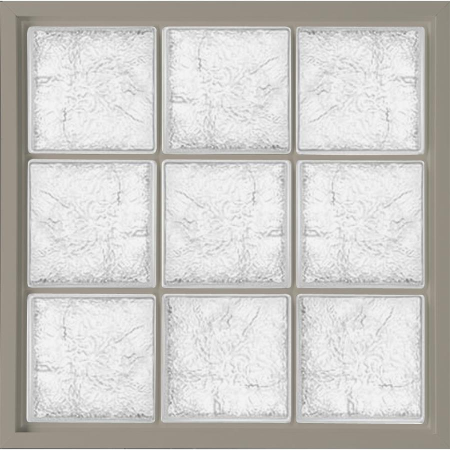 Shop hy lite 39 5 in x 39 5 in glass block series vinyl for Glass blocks for crafts lowes
