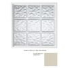Hy-Lite 39-1/2-in x 39-1/2-in Glass Block Series Vinyl Glass Block Window