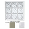 Hy-Lite 47-1/4-in x 47-1/4-in Glass Block Series Vinyl Glass Block Window