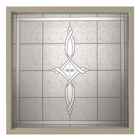Hy-Lite 50.25-in x 50.25-in Decorative Glass Double Pane Tempered Square New Construction Window