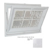 Hy-Lite 23-1/2-in x 15-1/2-in Classic Series Tilting Vinyl Double Pane Basement Hopper Window