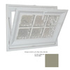 Hy-Lite 23-1/2-in x 31-1/2-in Classic Series Tilting Vinyl Double Pane Basement Hopper Window