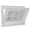 Hy-Lite 31-1/2-in x 15-1/2-in Classic Series Tilting Vinyl Double Pane Basement Hopper Window