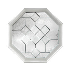 Hy-Lite 23-3/4-in x 23-3/4-in White Triple Pane Octagon Decorative Glass Fixed Window