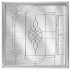 Hy-Lite 47-1/2-in x 47-1/2-in White Triple Pane Square Decorative Glass Fixed Window