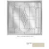Hy-Lite 47-1/2-in x 47-1/2-in Decorative Glass Series Tan Triple Pane Square New Construction Decorative Glass Fixed Window