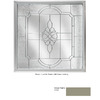 Hy-Lite 47-1/2-in x 47-1/2-in Driftwood Triple Pane Square Decorative Glass Fixed Window