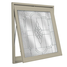 Hy-Lite 29-in x 29-in Decorative Glass Series Tan Triple Pane Square New Construction Decorative Glass Awning Window