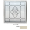 Hy-Lite 48-in x 48-in Tan Double Pane Square Decorative Glass Fixed Impact Window