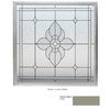 Hy-Lite 48-in x 48-in Driftwood Double Pane Square Decorative Glass Fixed Impact Window