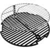 Big Steel Keg Round Porcelain-Coated Cast Iron Cooking Grate