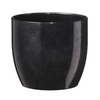  6-in H x 6-in W x 6-in D Black Ceramic Planter