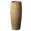  8-in H x 19.69-in W x 19.69-in D Cork Effect Ceramic Planter