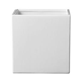 9-in H x 9-in W x 9-in D White Ceramic Indoor Pot