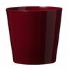 11-in x 10.6-in Shiny Bordeaux Ceramic Planter