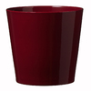 7-in x 7-in Shiny Bordeaux Ceramic Planter