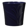 8-in H x 8.3-in W x 8.3-in D Night Blue Ceramic Planter