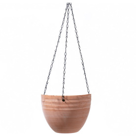 5.1-in H x 6.7-in W x 6.7-in D Terra Ceramic Indoor Hanging Basket