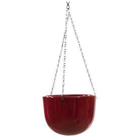 6-in H x 7-in W x 7-in D Bordeaux Ceramic Indoor Hanging Basket