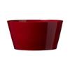 7.75-in x 3.5-in Shiny Bordeaux Ceramic Low Bowl Planter