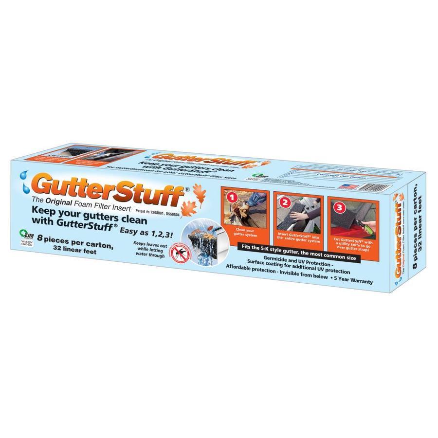 32 Feet GutterStuff 5-Inch K Style Foam Gutter Filter Insert