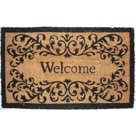 allen + roth Black/Brown Rectangular Door Mat (Common: 18-in x 30-in; Actual: 17.6-in x 29.4-in)