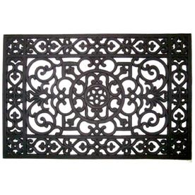 "Style Selections 24"" x 36"" Wrought Iron Rubber Door Mat"