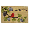 Style Selections 29.4-in x 17.6-in Multicolor Rectangular Door Mat