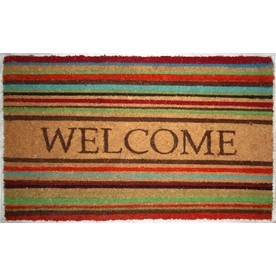 allen + roth 29.4-in x 17.6-in Brown Rectangular Door Mat