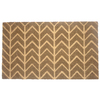 allen + roth Brown Rectangular Door Mat (Common: 18-in x 30-in; Actual: 17.6-in x 29.4-in)