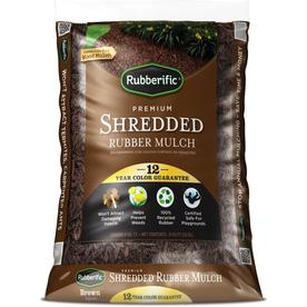 Rubberific 0.8 cu ft Brown Recycled Shredded Rubber Mulch
