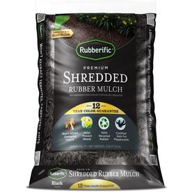 Rubberific 0.8-cu ft Black Shredded Rubber Mulch (Playground Certified)
