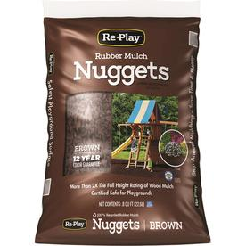 RePlay 0.8 cu ft Brown Recycled Nugget Rubber Mulch