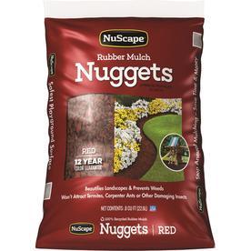 NuScape 0.8-cu ft Red Nuggets Rubber Mulch (IPEMA Certified)