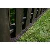 Rubberific Landscape Border 8-ft Brown Landscape Edging Section
