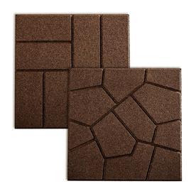 Rubberific Brown Square Rubber Paver (Common: 16-in x 16-in; Actual: 16-in x 16-in)
