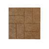 Rubberific 16-in x 16-in Tan Rubber Square Patio Stone (Actuals 16-in W x 16-in L)