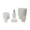 BathSense White Marble Soap/Lotion Dispenser