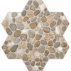 FLOORS 2000 5-Pack 18-in x 18-in Agrega Beige Glazed Porcelain Floor Tile
