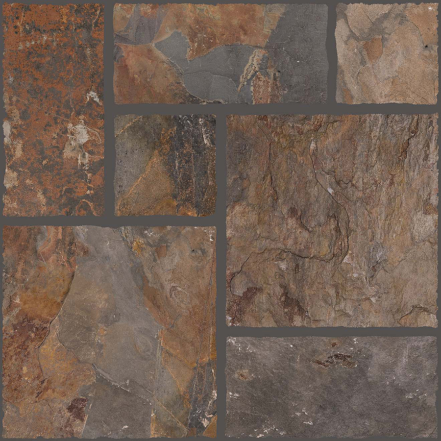 Shop floors 2000 7 pack autumn leaf glazed porcelain indoor outdoor floor tile common 18 in x Tile ceramic flooring
